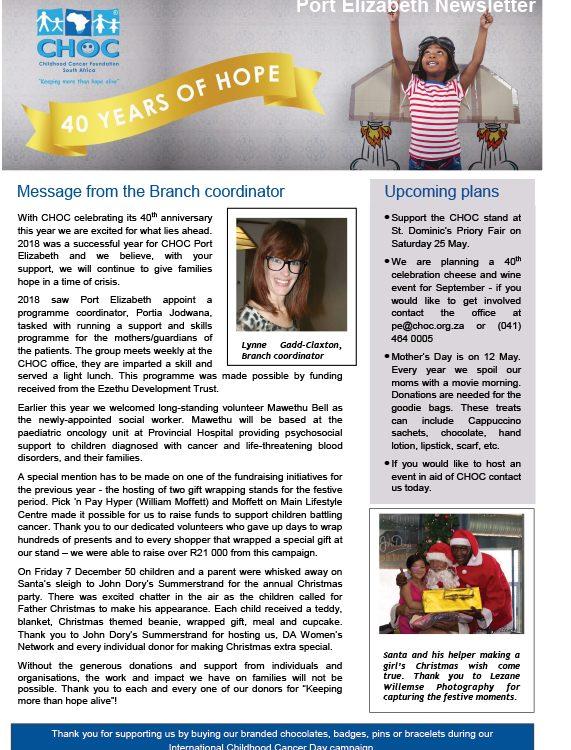 Port Elizabeth Newsletter